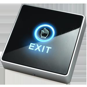 nút nhấn exit chạm tay